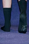 Socks PE ecocotton black <b>nog in 44-46</b>