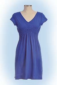 Vanessa dress blue<br><b>nog in L, XL</b>